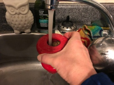 run water over/into them; let the excess drain out the bottom